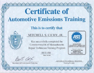 Mass Emissions Certified